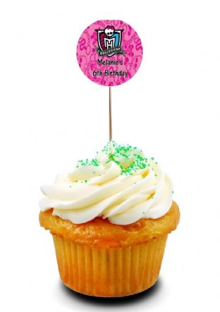Monster High Cupcake Picks/Toppers